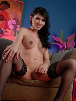 Pretty Eva fingering her tight butthole